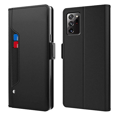 Erpast Phone Case, Shockproof Flip Leather Wallet Case Cover with Card Slot Holder, for Samsung Galaxy Note 20/Note 20 Ultra,Black,Note 20 Ultra