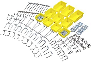 Triton Products 76995 DuraHook Zinc Plated Steel Hook and Bin Assortment for DuraBoard 85 Assort Hooks and 10 Assort Bins, 95-Piece by Triton 2