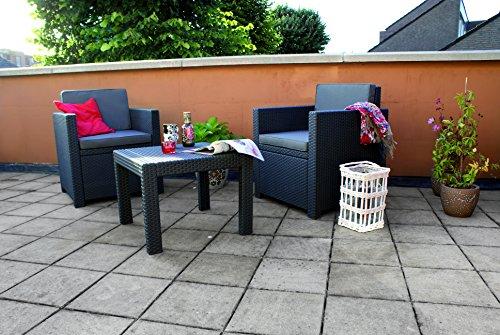 Allibert Lounge Set Victoria Balcony, Grau, 3-teilig - 5