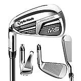 TaylorMade Golf M5 Iron Set 4-PW, Left Hand, Regular Flex Shaft: Mitsubishi Tensei Orange