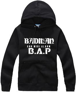 BAP KPOP matoki badman hoodie B.A.P. accessories cap sweater S M L XL(l black)
