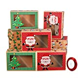 Hemoton 12 cajas de papel para bomboneras de Navidad, cajas de galletas, caramelos
