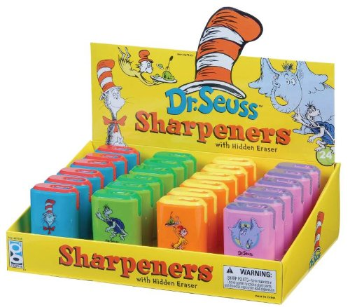 Dr Seuss Eraser and Pencil Sharpener Assortment, 24 Pieces (67145)