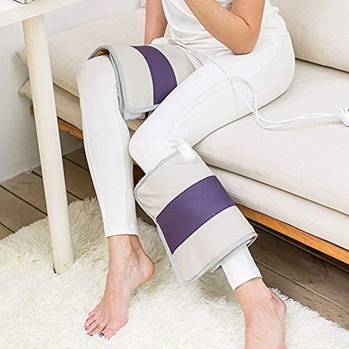 Qjkmgd Masajeador de piernas con compresión de Aire, Envoltura de piernas de circulación eléctrica para Tobillos de pie de Cuerpo Terapia de Pantorrilla, Calentador de Rodilla de Hombro más cálido
