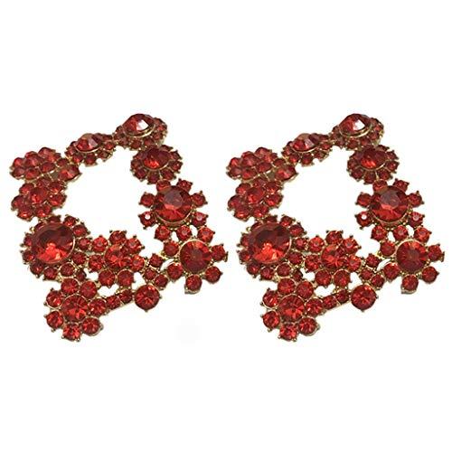 VAILANG 2 Piezas/Juego Clip de Zapatos Chino Rhinestone Rojo Brillo Exquisito Clips Florales Señora Boda Novia Tacón Alto Decoración Hebilla Zapatos de Bricolaje Encantos de Mujer