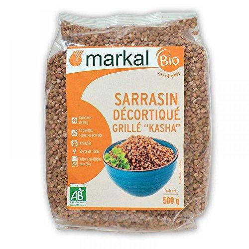 Semillas de trigo sarraceno tostado ecologico - Kasha biológico - Alforfón sin gluten | 500g | Markal