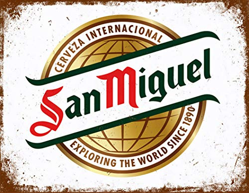 San Miguel Beer Lager cerveza inspired Vintage Retro Man Cave Bar Pub Shed Novelty Gift Aluminium Metal Tin Wall Décor Sign