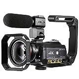 Videocámara 4K, Cámara de Video Cámara ORDRO AC3 Ultra HD 1080P 60FPS WiFi y Cámara de Visión Nocturna por Infrarrojos, Videocámara Cámara Digital con Pantalla Táctil de 3.1 Pulgadas y Micrófono