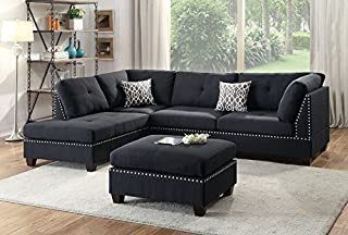 Amazon Com Black Living Room Sets Living Room Furniture Home Kitchen