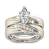 Jeulia Wedding Rings Engagement Rings for Women Anniversary Promise Ring Bridal Sets 925 Sterling Silver with 1.6 ct Primary Stone+ 0.32 ct Side Stone