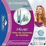 Bleu Câlin Couette Hiver 1 Personne, Très Chaude, Blanc, 140x200cm, KTC