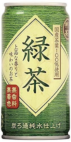 神戸茶房 緑茶 缶 185g ×30本 国産茶葉100% 無香料 無着色