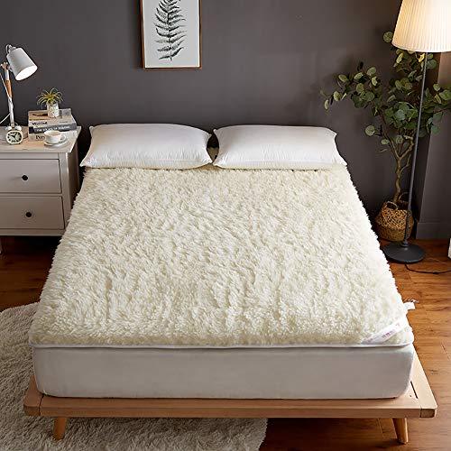 Plush Soft Foldable Mattress,Comfortable Lamb Velvet Mattress.for Adult Kids,Thicken Breathable Quality Deep Mattress