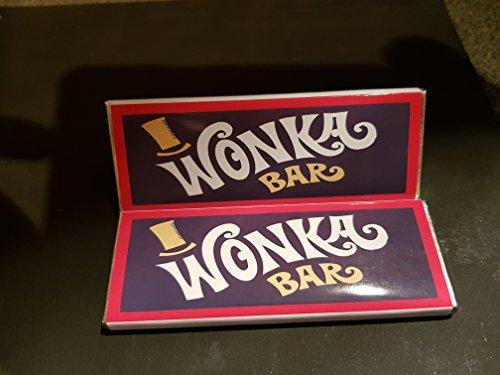 Wonka Schokoladenriegel mit goldenem Ticket, 25 g, mit handgefertigter Verpackung, personalisierbar, 10 Stück