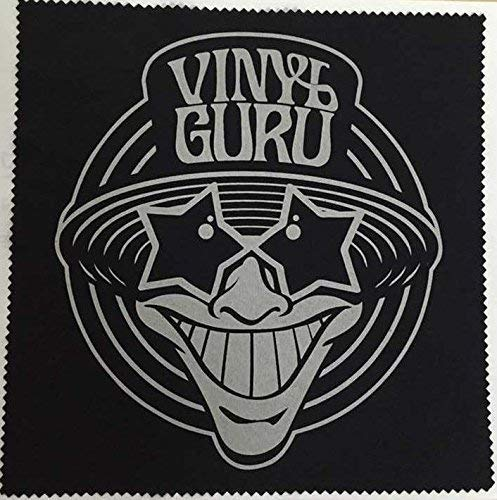 Vinyl Guru panno antistatico nero e argento (20cm x 20cm)