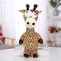 抱きしめる28cmパロディー醜い突き出た目甘いキリン生地ビッグアイ森動物機械鹿人形
