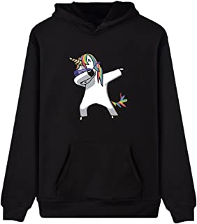 Imilan Women's Pullover Hoodie Unicorn Print Sweatshirts Jumper Long Sleeves