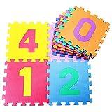 Fenfen PE Mat Digital Baby Crawling Mat Sala de Estar Rompecabezas Puzzle Stitching Niños Escalada Mat Game Pad 10, 30 * 30 * 1.0 cm