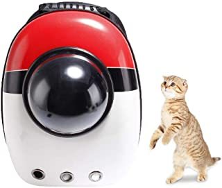 PAWACA Pet Cat Space Capsule Backpack, Portable Pet Travel Backpack for Cats & Small Puppy - Safe and Breathable