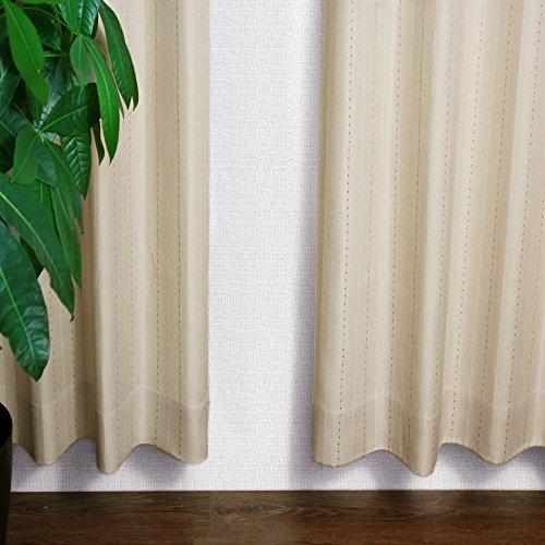 [窓美人] ストライプ柄カーテン 「ステップLight」 カーテン 2枚 + アジャスターフック + カーテンタッセル ベージュ 幅100×丈178cm