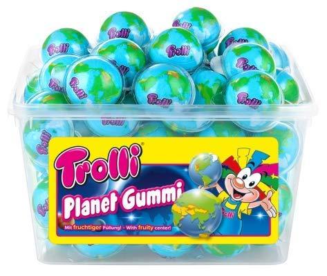 Trolli Planet Gummi Fruchtgummi Schaumzucker im Globus Design 1128g