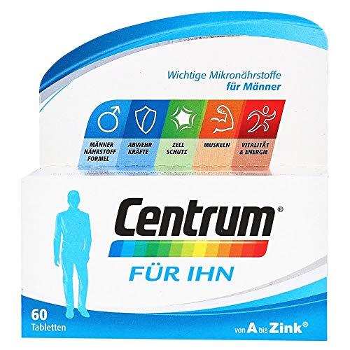 Centrum Für Ihn – Hochwertiges Nahrungsergänzungsmittel mit Mikronährstoffen – Speziell für Männer – Vitamine, Mineralstoffe, Spurenelemente – 1 x 60 Tabletten