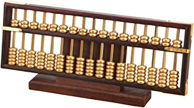$126 » ZANZAN Calculator Wooden Abacus 17 Column Math Professional Abacus for Adults Kids Calculator Counting Tool Vintage-Style ...