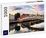 Lais Puzzle Ha Penny Bridge en Dublín al atardecer, Irlanda 1000 piezas