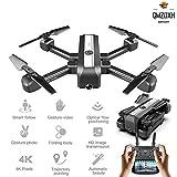 QMZDXH Drone Tascabile HD,Drone con Telecamera HD WiFi Quadricottero con...
