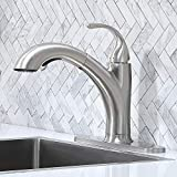 Kitchen Faucet,Kitchen Sink Faucet,Brushed Nickel Single Handle Pull Down Faucet,Modern Best Small Stainless Steel Sink...