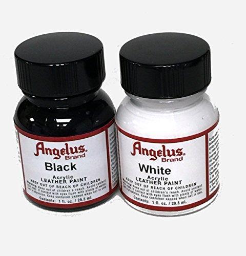 Angelus - Set de 2 botellas de 29,5 ml de color NEGRO y BLANCO