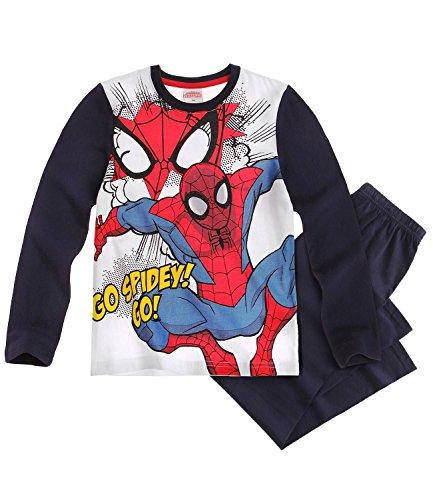 Pijama oficial de Spiderman Spider-Man de 2 piezas de manga larga pijama para niños – edades de 3 a 10 años