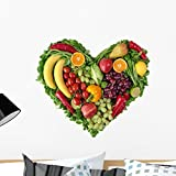 Wallmonkeys FOT-31952524-24 WM349365 Heart of Fruits and Vegetables Peel and Stick Wall Decals (24 in W x 22 in H), Medium