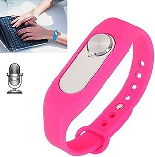 Zomeber Pulsera Inteligente a Prueba de Agua, WR-06 Wearable Pulsera de 16 GB Grabadora Digital de Voz Reloj de Pulsera, un botón de Grabación de Larga duración (Negro)