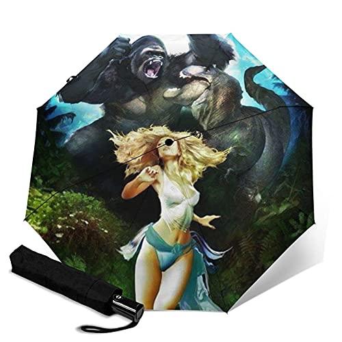 Folding Umbrellas King Orangutan Kong Automatic Portable Tri-Fold Umbrella,...