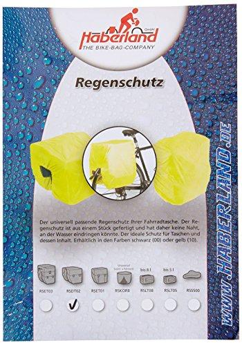 Haberland Regenschutz für Doppeltaschen, gelb, One Size