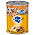 PEDIGREE CHOPPED Adult Wet Dog Food, Ground Dinner Chicken, 375g Can (12 Pack)