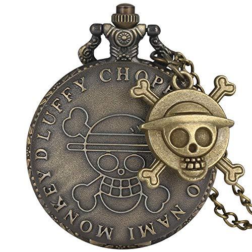 Reloj de bolsillo de una sola pieza para hombre y mujer, collar de cadena retro steampunk (color: amarillo)