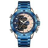 Reloj De Pulsera Con Cronógrafo Impermeable Multifunción Con Esfera Grande De Doble Pantalla Reloj Clásico Para Hombre 丨...