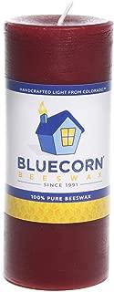 Bluecorn Beeswax 100% Pure Beeswax Pillar (2
