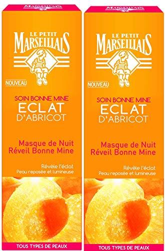 Le Petit Marseillais Masque Nuit Réveil Bonne Mine Eclat Abricot Tub 50 ml - Lot de 2