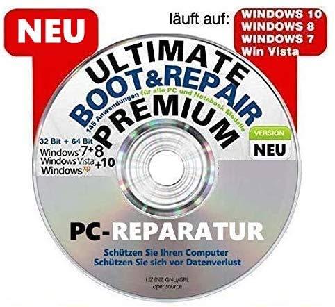 PC NOTFALL REPARATUR RECOVERY REPAIR SICHERUNG BOOT CD WINDOWS XP 7 8 10 NEU
