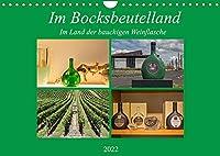 Im Bocksbeutelland (Wandkalender 2022 DIN A4 quer): Unterwegs im Land der bauchigen Weinflasche (Monatskalender, 14 Seiten )