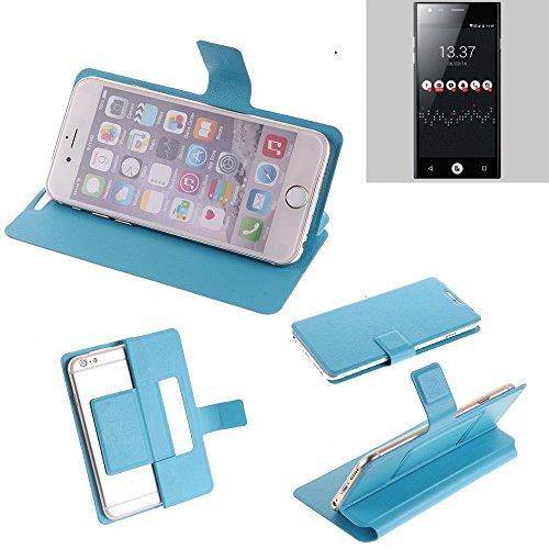 K-S-Trade® Flipcover Für ID2ME ID1 Schutz Hülle Schutzhülle Flip Cover Handy Case Smartphone Handyhülle Blau