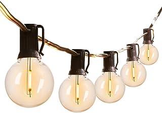 Outdoor LED String Lights Indoor Decor Lights Patio Garden G40 Globe Plastic Light Bulbs...