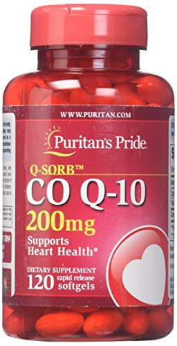 Puritans Pride Q-Sorb CoQ10 200 Mg, 120 Count