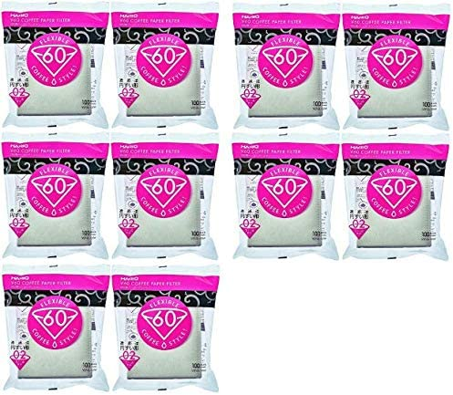 10Set outlet X Hario 02 Superior 100-Count Coffee Paper Filters Pack V 10 White