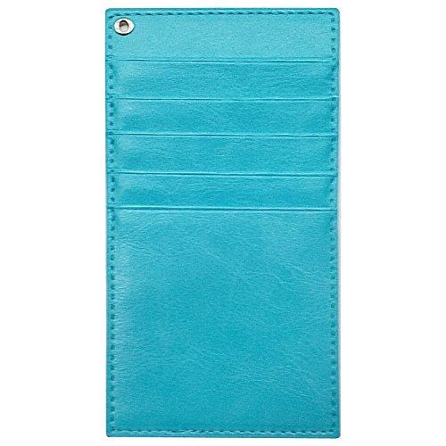 インナー カードケース (ブルー) カード入れ 長財布用 ウォレットイン PUレザー カラフル 収納 スリム 薄型 かわいい おしゃれ オシャレ sslink