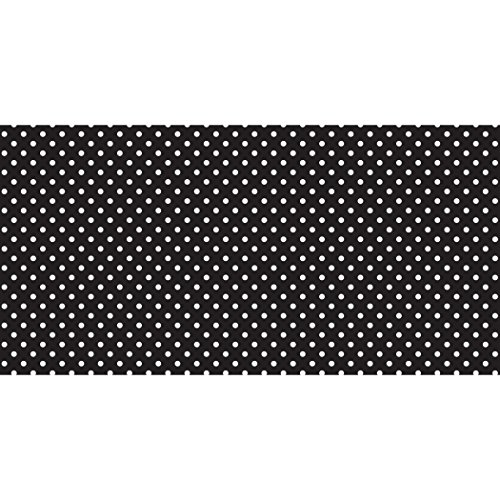 """Pacon PAC55845 Fadeless Design Roll, 48"""" x 50', Classic Dots Black/White"""
