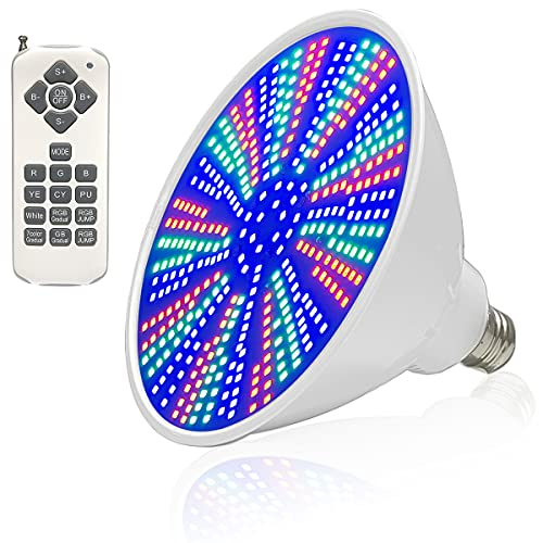 CLOSUNT Pool Light Bulb 120V 40W RGB Color Changing, LED Color Pool Lights for Inground Pool. Replacement Pool Lights for Pentair and Hayward Fixture. Switch Control or Remote